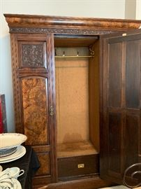 Stunning antique knockdown wardrobe marked A. Gardner and Sons