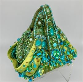 Large selection of Mary Frances embellished handbags....many never used!