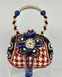 Large selection of Mary Frances embellished handbags....many never used!