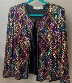 Selection of new and vintage sequin tops