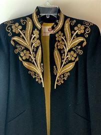 Black and gold vintage jacket