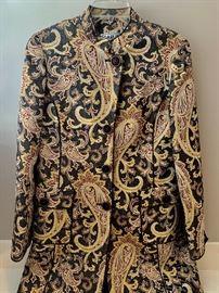 Carlisle wood and silk brocade jacket