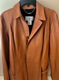 St John Sport leather belted blazer