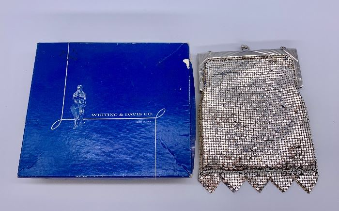 Whiting and Davis metal mesh evening bag...with box!