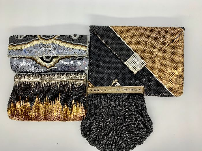 Selection of vintage and new evening bags