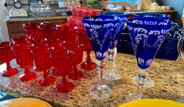 Colorful Bohemian stemware