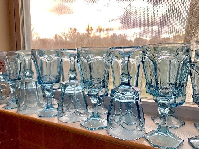 Light blue stemware