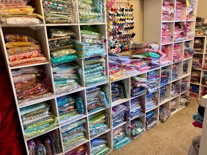 Incredible collection of fabrics, sewing, ribbon