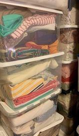 Bins and bins full of bulk fabric!
