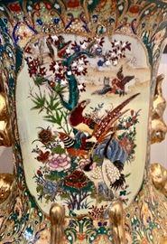 Close up of Satsuma Vases