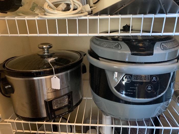 Cuisinart slow cooker and Cook's Essential pressure cooker