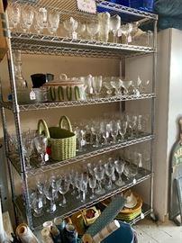 Wine glasses galore!