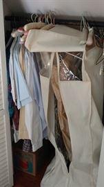 Closets of clothes