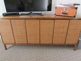 Paul McCobb for Calvin Vintage Dresser Cane Front Wood Top