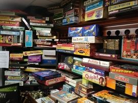 Assorted board games....Many other not seen in photos