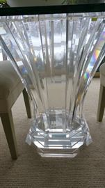 Barry Richman signed acrylic dining / foyer table