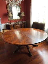 """Theodore Alexander refectory table Mahogany and brass 66""""-88"""""""