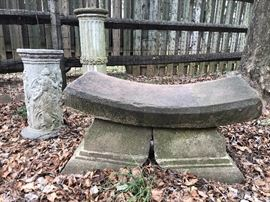 Chinese Stone Garden Bench