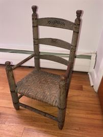 Very Early American Primitive Child's  Chair