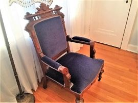 Carved Ornate Vintage Eastlake chair