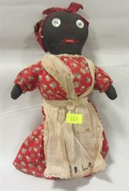 "8"" TALL VINTAGE FORK ART ""MAMMY"" DOLL"