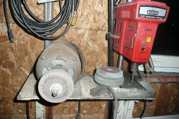 Grinder and Drill Press