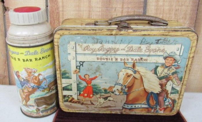 Metal Roy Rogers Lunch Box w/Thermos
