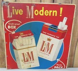 Metal L & M Cigarettes Sign