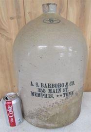 #5  A.S. Barboro & Co.  Memphis,Tenn  Jug