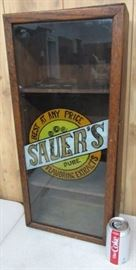 Sauer's Extracts Display Case