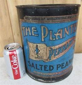 Metal Planters Peanuts Can