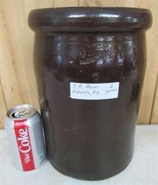 2 Gallon  J.A. Bauer Crock - Paducah, Kentucky