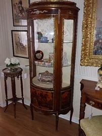 Copy Louis XV French Curio Cabinet (1950's) Ormolu Mounting