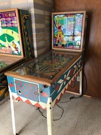 2 Vintage Pinball Machines