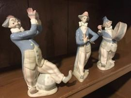 Three Porcelain Clowns From Spain