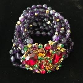 Jose & Maria Barrera - runway jewelry (custom piece), all semi precious stone - fantastic piece - please look up the artists prior to sale so you are familiar with prices.