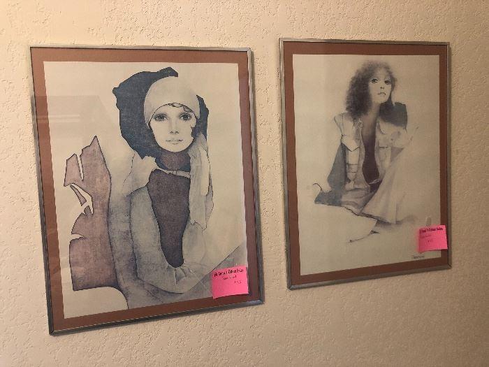Pair of Rosamond prints