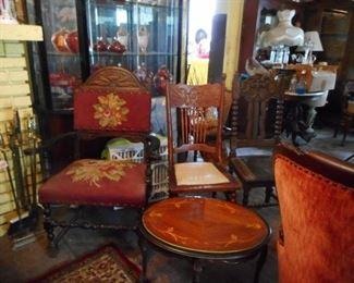 Antique Vintage Arm, Side Chairs