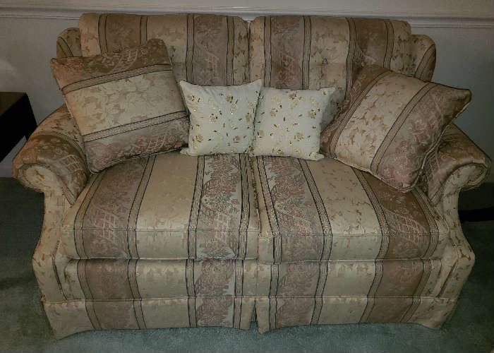 Clayton Marcus Matching Love Seat with Matching Pillows.