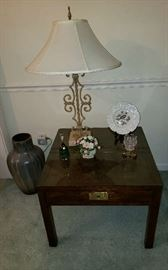 Henredon scene one Campaign Style End Table