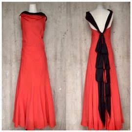 1930s Silk Crepe Gown