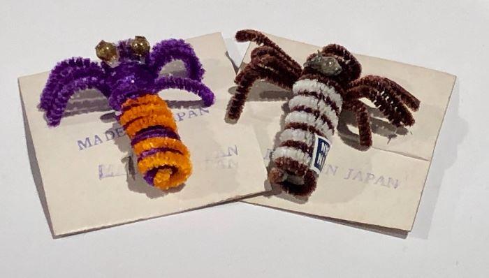 Vintage Chenille Bugs!
