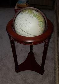 Floor standing world globe
