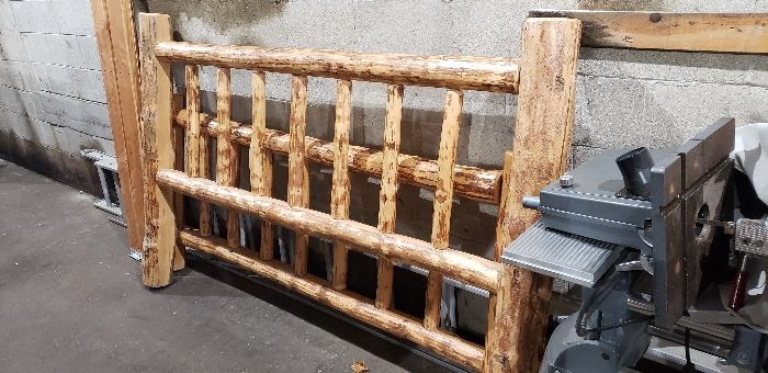 King Size Rustic Bed Frame