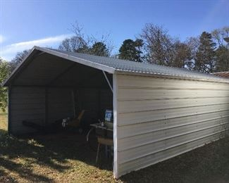 """Car port 19' 9"""" X 25' and 8' 11"""" to clearance of roof"""
