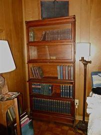 Barrister Bookcase, Antique Book Sampling