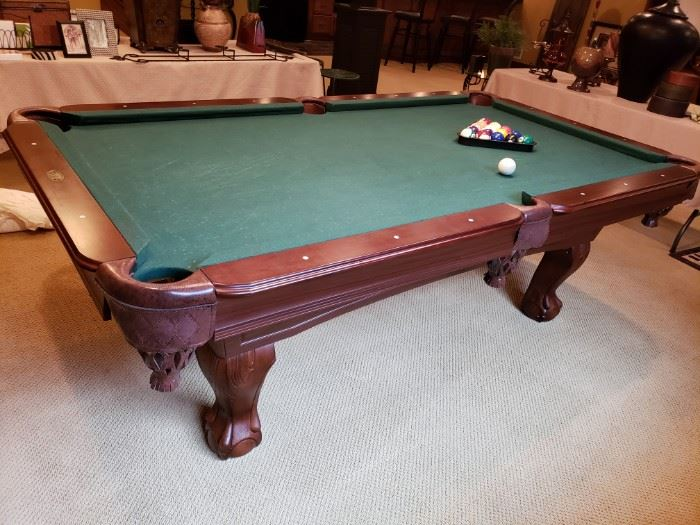 CLAW FOOT POOL TABLE