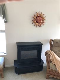 Hearth.  Self standing fireplace heater.