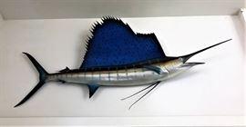 "Sailfish  Wall Art 8'9"" long 36"" high 24"" wide"