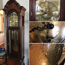 Howard Miller 62nd Anniversary Edition grandfather clock. Model 610-427. Estate sale price: $750